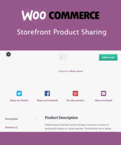 Storefront Product Sharing